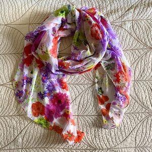 Gorgeous Spring Floral Scarf/Wrap